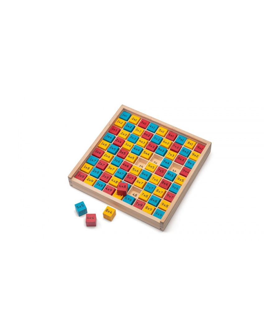 Image for Tobar Wooden Times Table Board 1-9 Times
