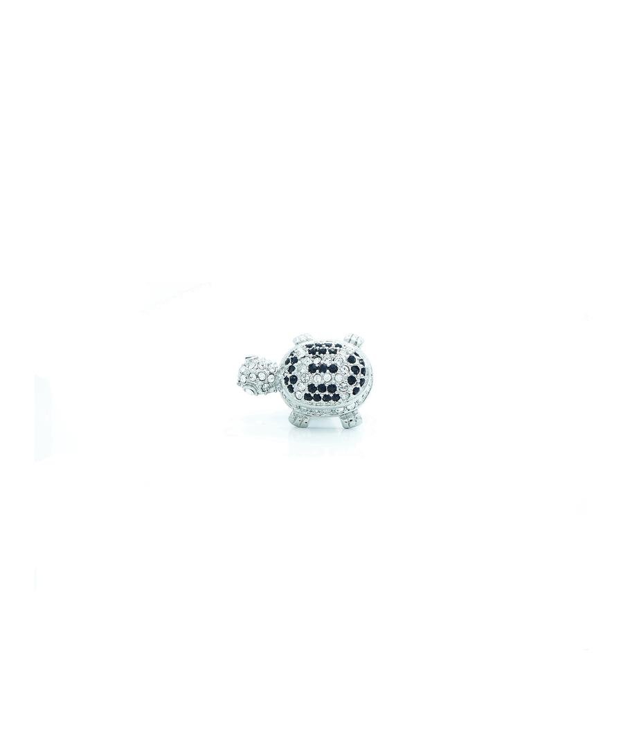 Image for Swarovski Crystal Tortoise Pin Badge