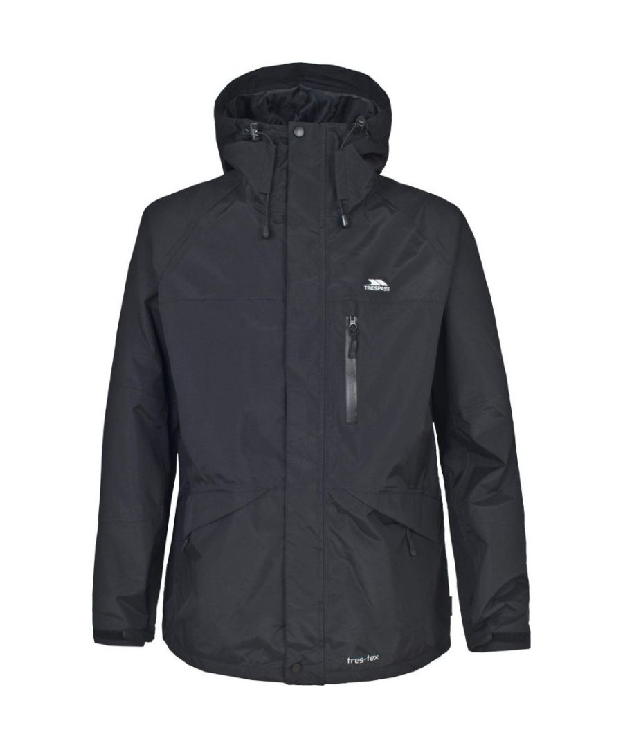 Image for Trespass Mens Corvo Waterproof Breathable Rain Coat Jacket