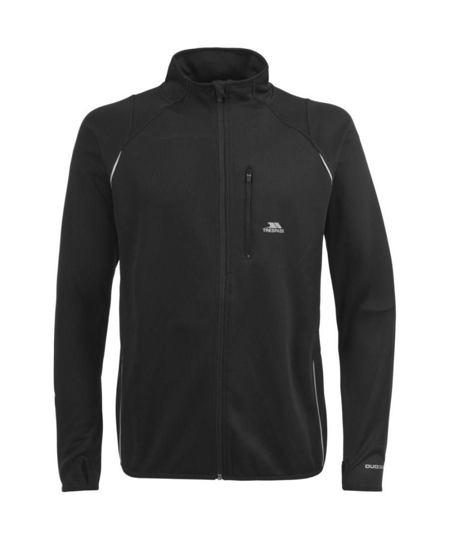 Image for Trespass Mens Whiten Wicking Reflective Detail Running Jacket