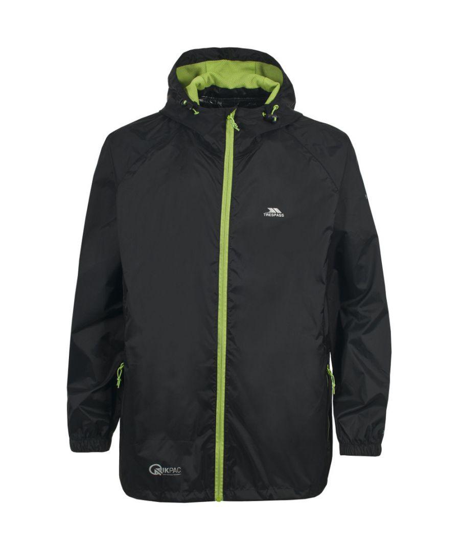 Image for Trespass Boys Girls Qikpac Waterproof Breathable Packaway Jacket