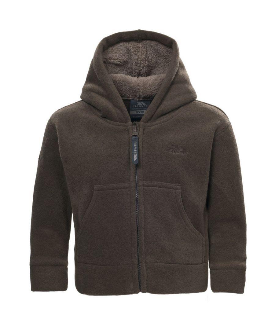Image for Trespass Boys Alejandro Baby Full Zip Soft Warm Fleece Hoodie Top