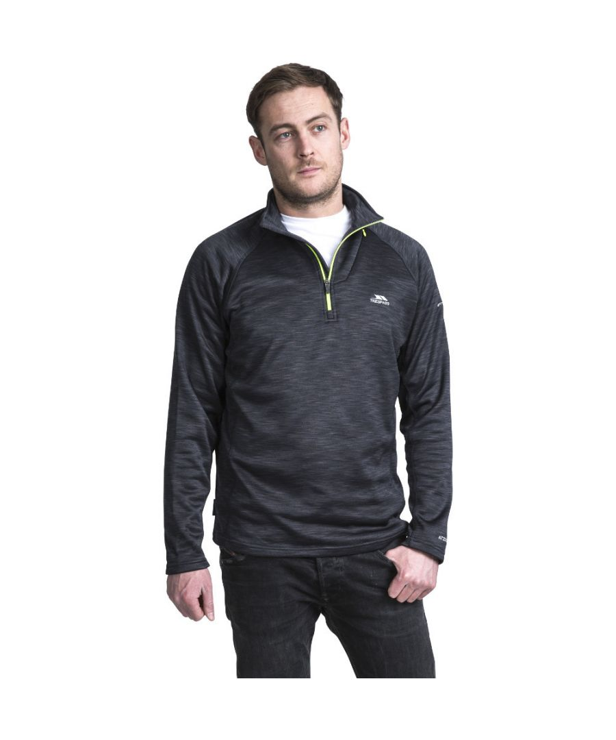 Image for Trespass Mens Collins Half Zip Mediumweight Marl Fleece Top