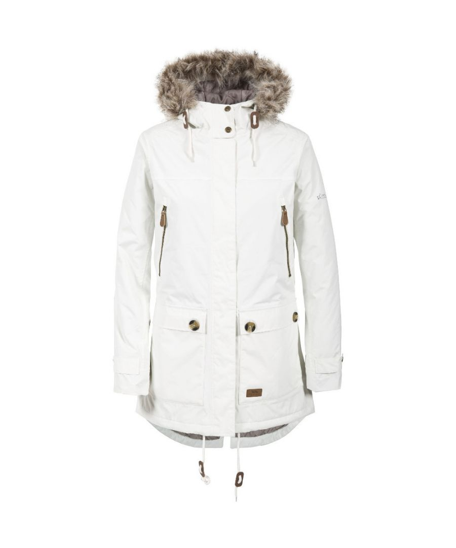 Image for Trespass Womens/Ladies Clea Waterproof Faux Fur Trim Parka Jacket