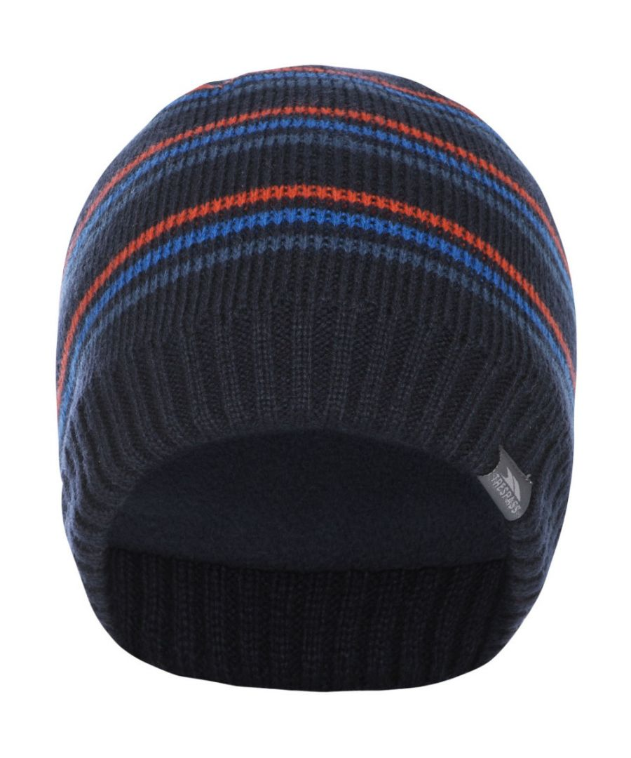 Image for Trespass Mens Ray Stripe Pattern Knitted Winter Beanie Hat