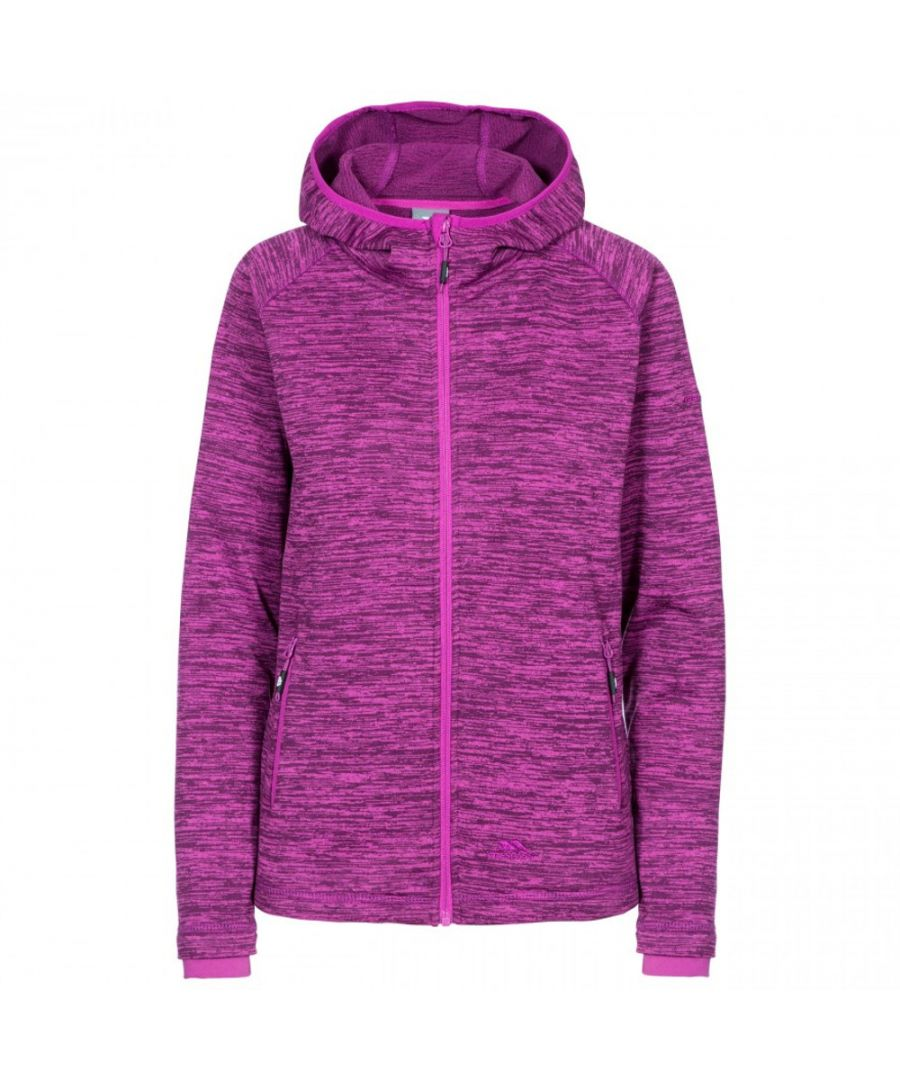 Image for Trespass Womens Riverstone Marl Full Zip Hooded Fleece Coat