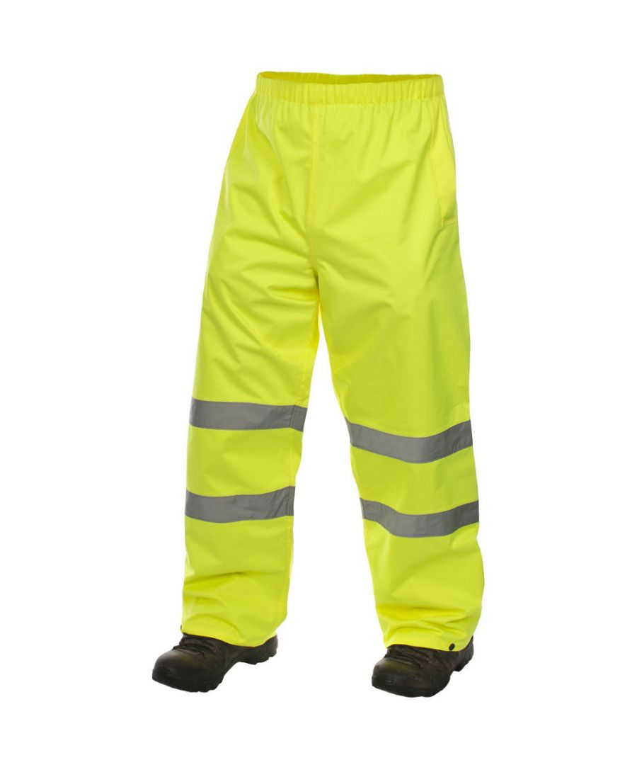 Image for Trespass Mens Tomo Waterproof Breathable High Visibility Work Trousers