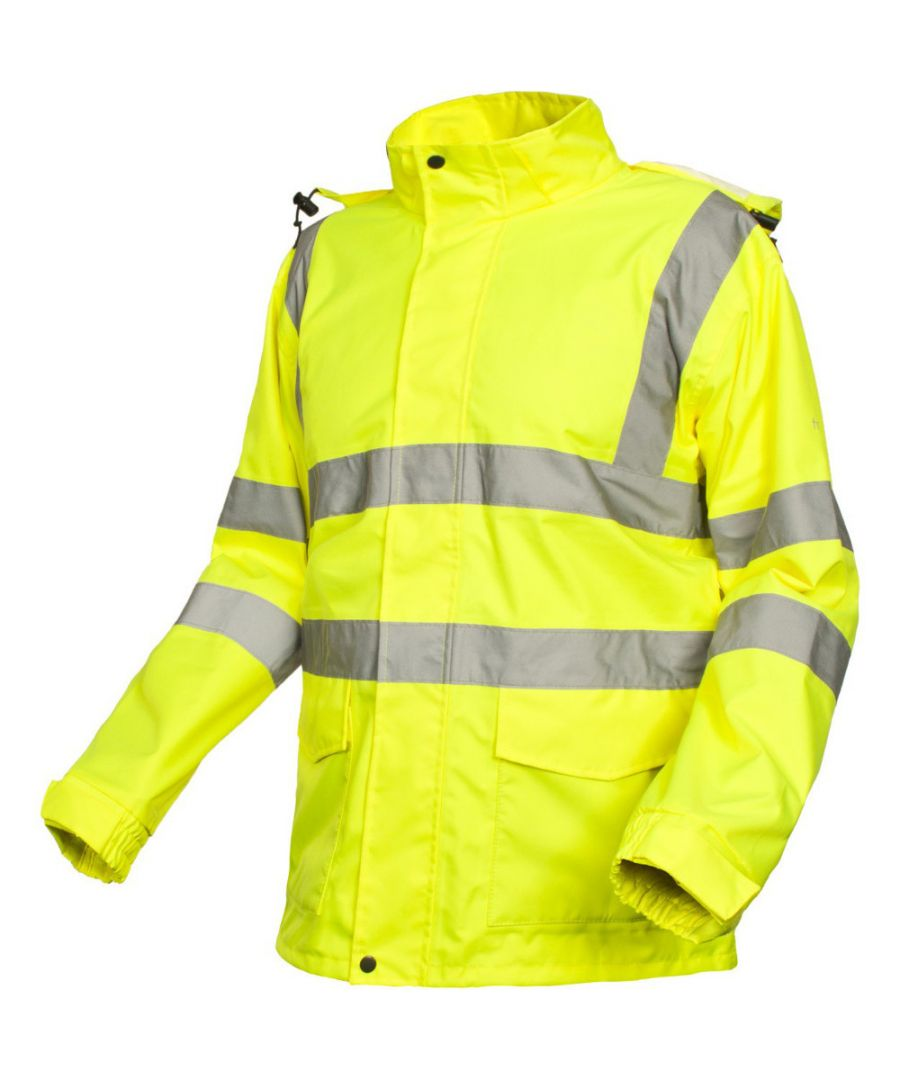 Image for Trespass Mens Beckon Waterproof Breathable High Visibility Work Jacket