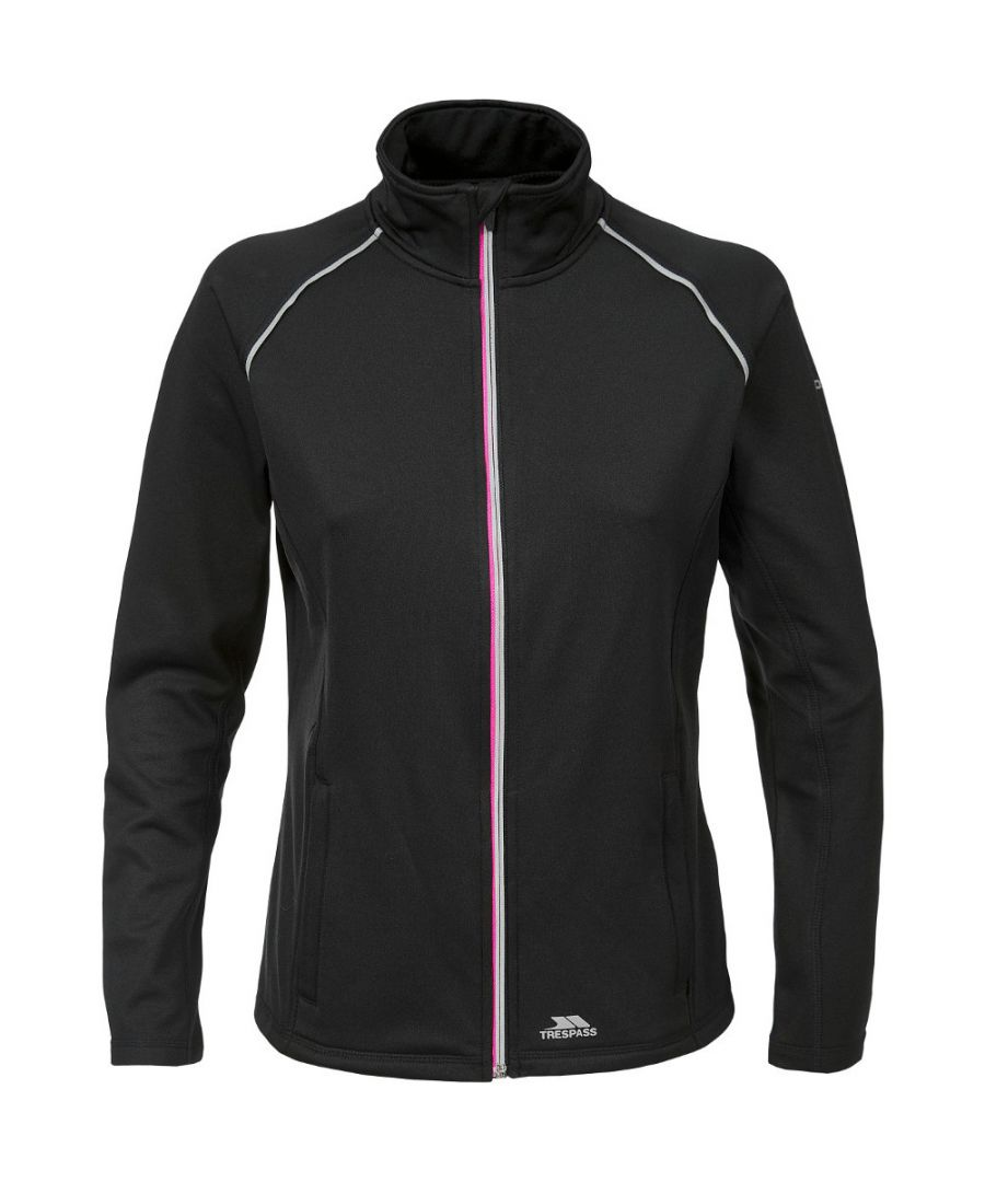 Image for Trespass Womens/Ladies Teegan Wicking Quick Dry Full Zip Active Top