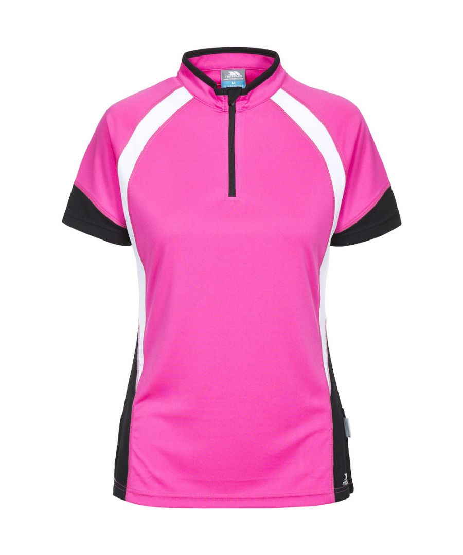 Image for Trespass Womens/Ladies Harpa Half Zip Wicking Quick Dry Cycling Top