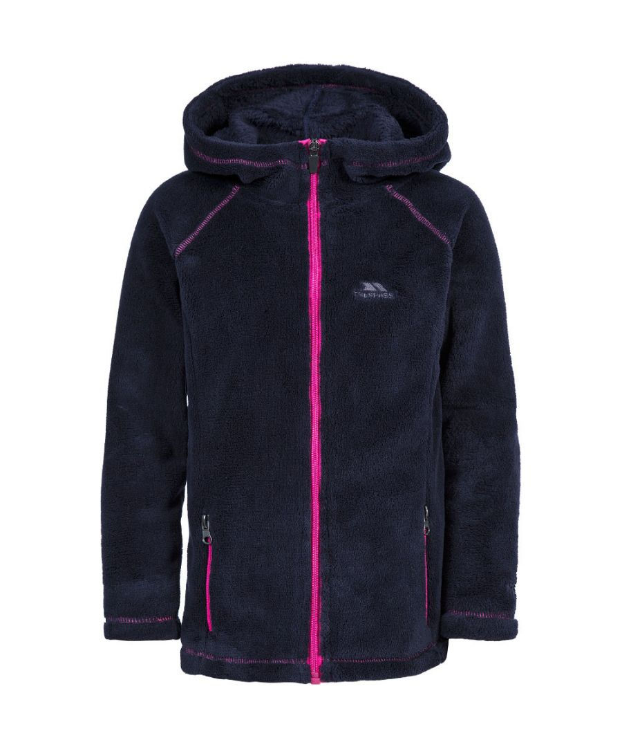 Image for Trespass Girls Lysle Knitted Polyester Full Zip Hooded Fleece