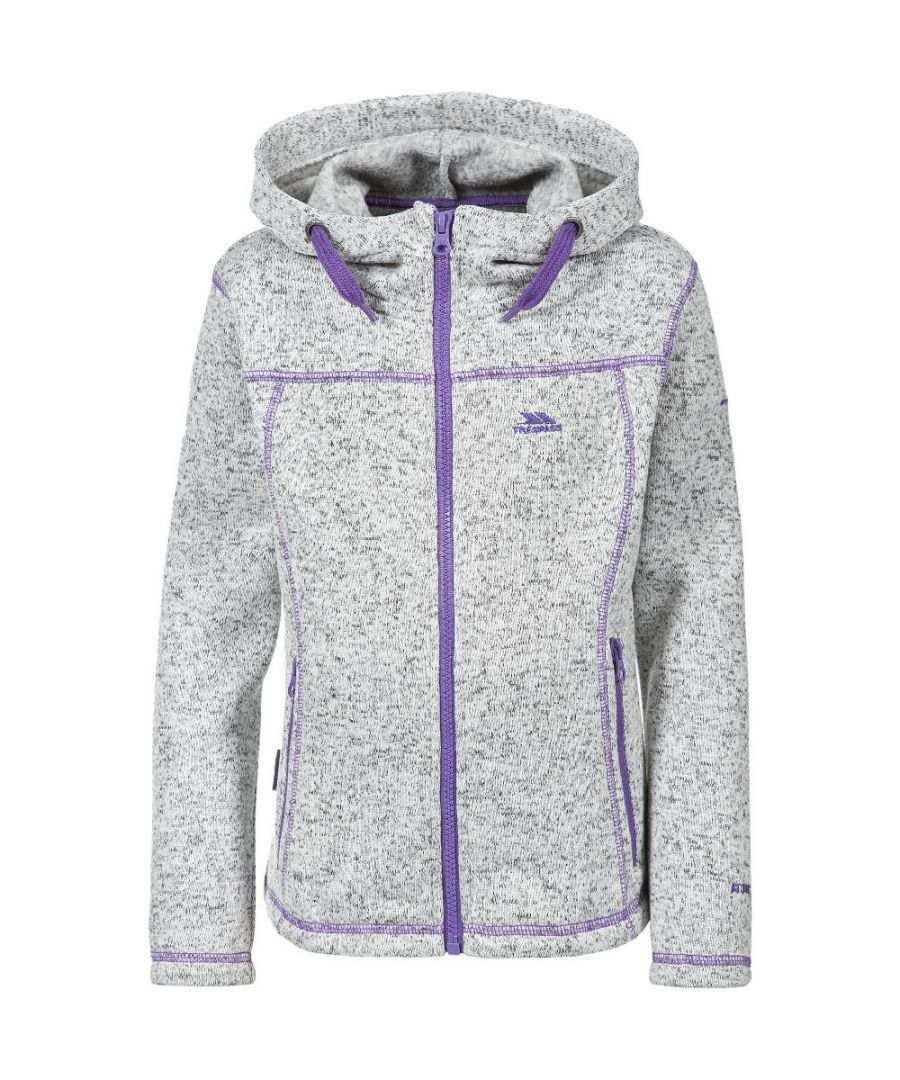 Image for Trespass Girls Lovell Knitted Polyester Full Zip Stitch Detail Fleece