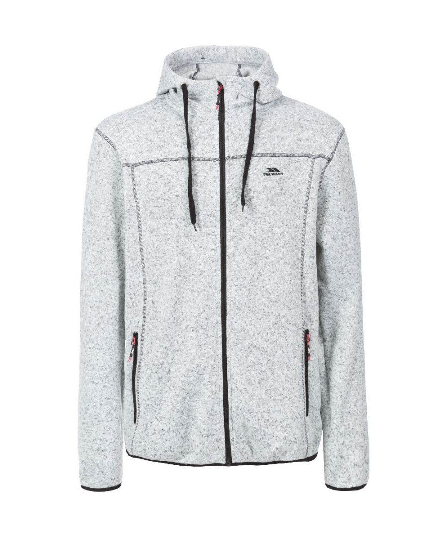 Image for Trespass Mens Odeno Knitted Full Zip Airtrap Fleece Jacket