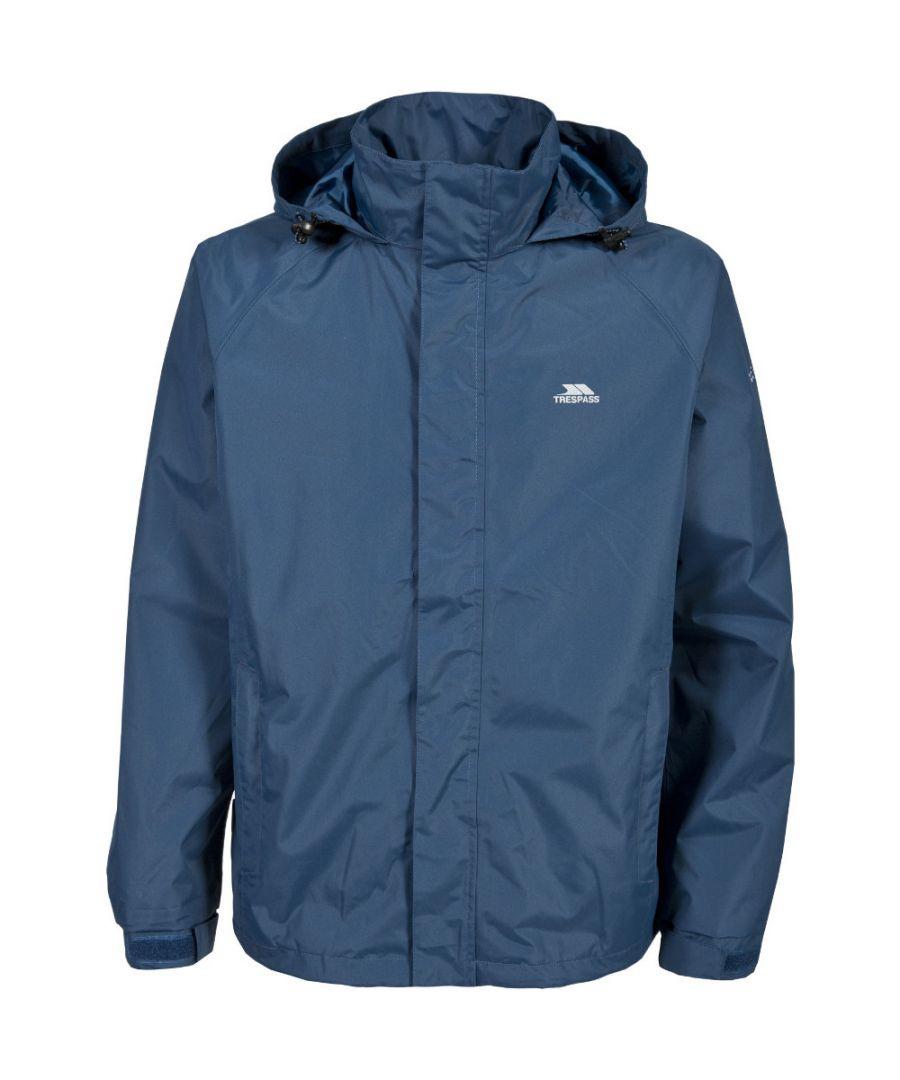 Image for Trespass Mens Nabro II Waterproof Windproof Rain Shell Jacket