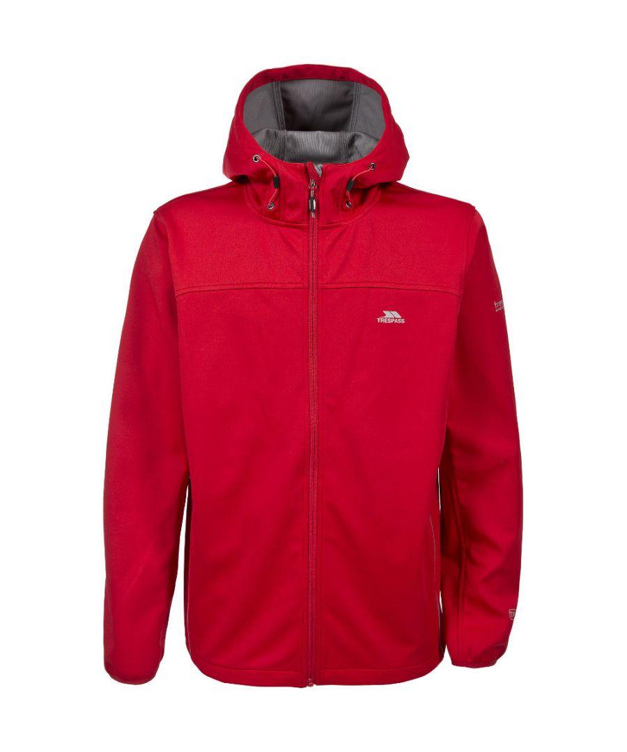 Image for Trespass Mens Zeek Knitted Waterproof Breathable Softshell Jacket