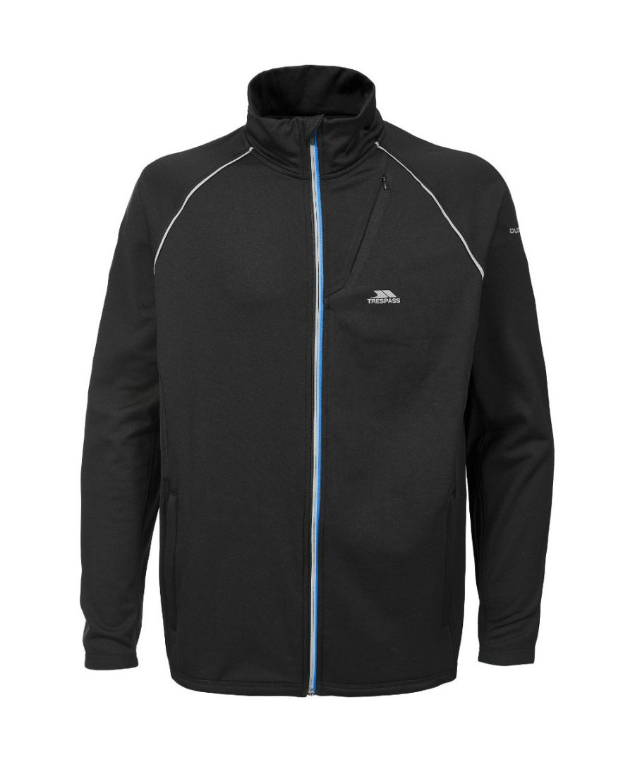 Image for Trespass Mens Clive Long Sleeve Full Zip Quick Dry Active Top