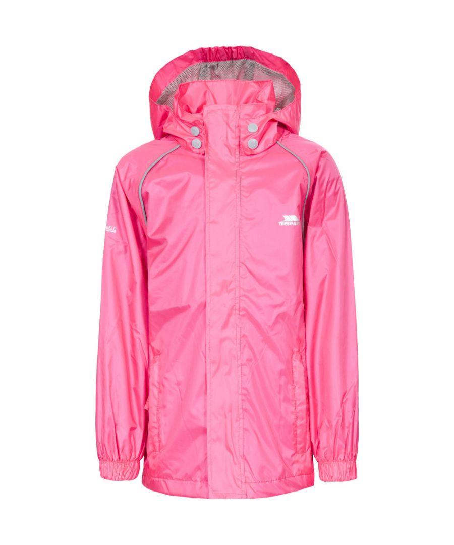 Image for Trespass Boys & Girls Neely II Waterproof Breathable Rain Shell Jacket