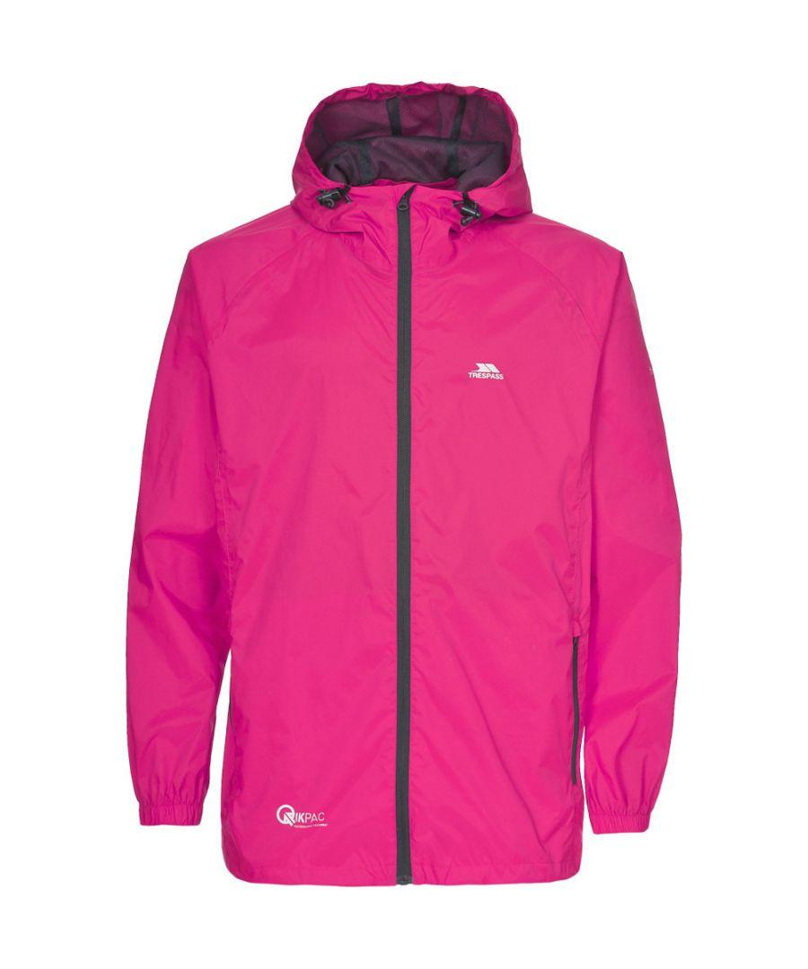 Image for Trespass Mens & Womens/Ladies Qikpac Packaway Waterproof Shell Jacket