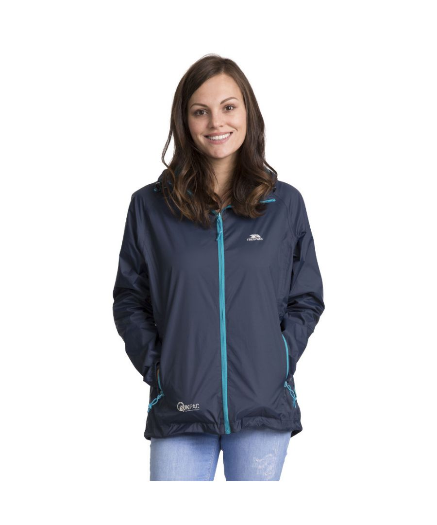 Image for Trespass Womens/Ladies Qikpac Waterproof Breathable Windproof Jacket