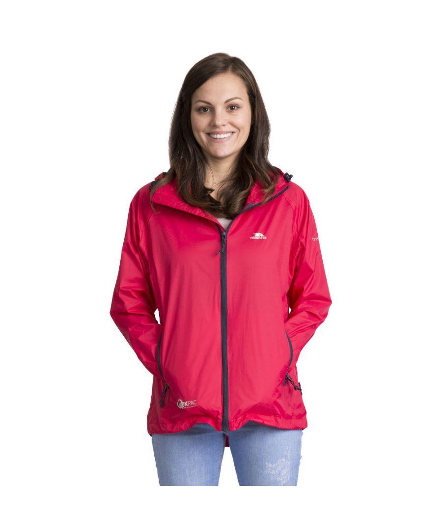 Image for Trespass Womens/Ladies Qikpac Waterproof Breathable Windproof Jacket