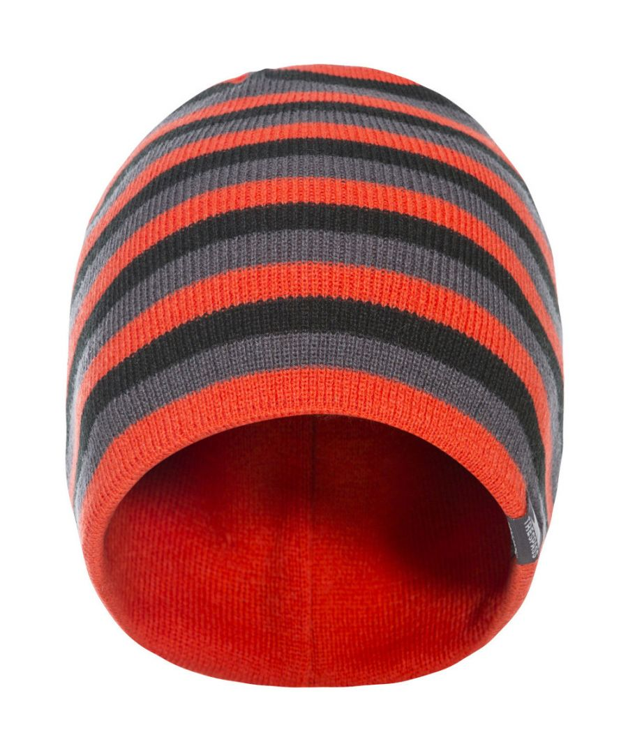 Image for Trespass Mens Coaker Knitted Acrylic Reversible Beanie Hat