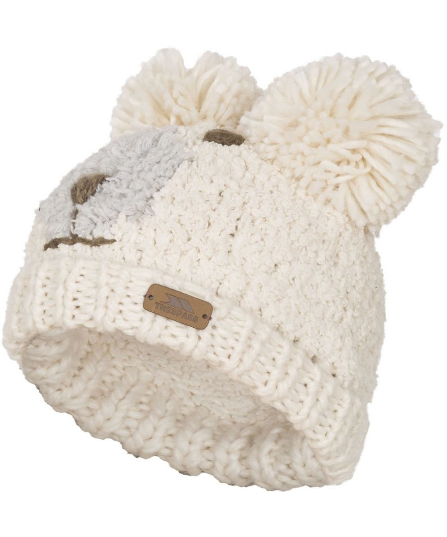 Image for Trespass Boys & Girls Polar Bear Knitted Acrylic Novelty Hat