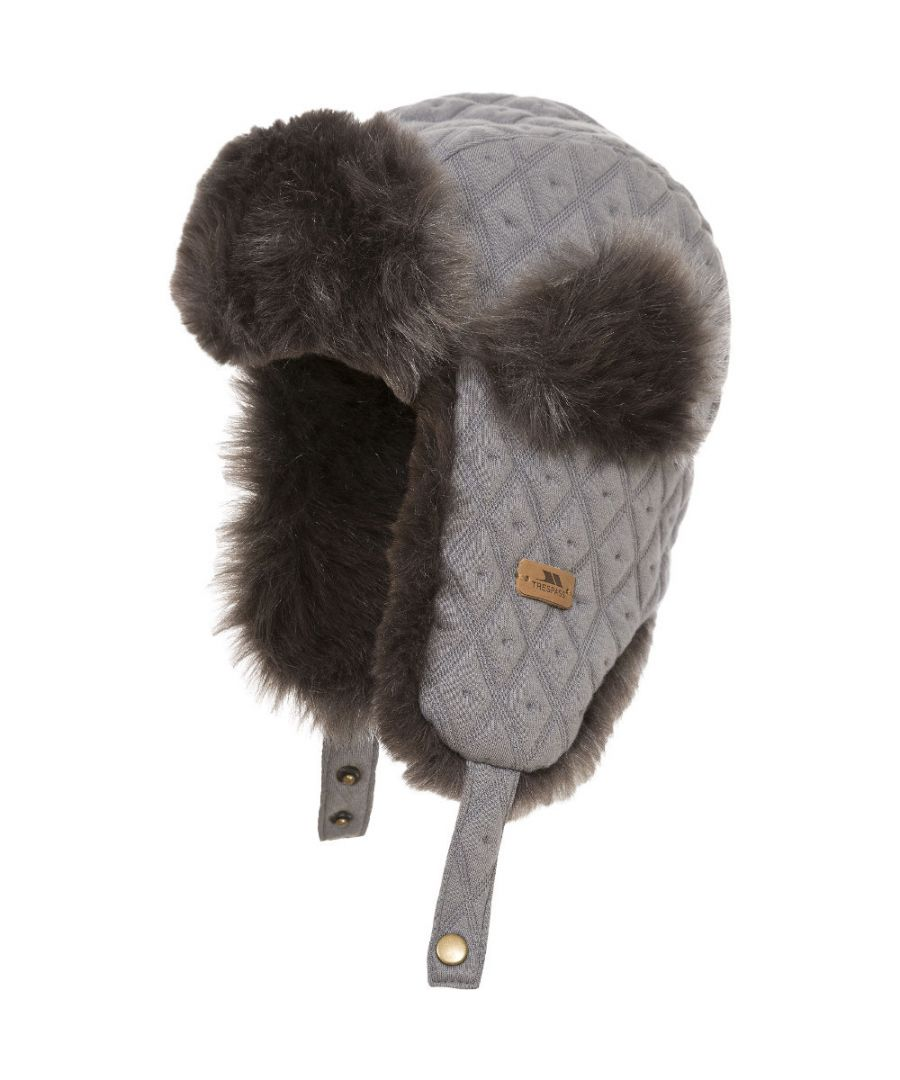 Image for Trespass Boys & Girls Kendall Faux Fur Adjustable Trapper Hat