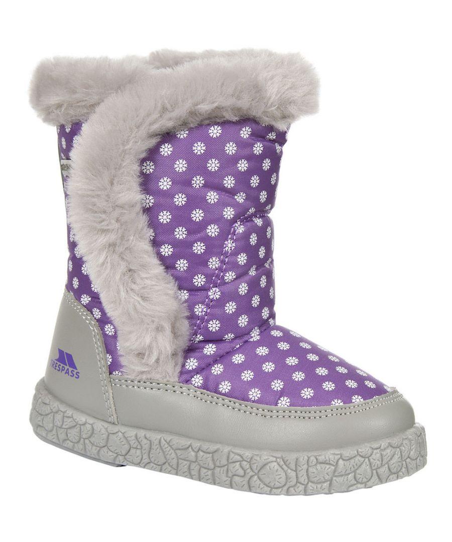 Image for Trespass Girls Babies/Toddlers Tigan Fleece Lined Winter Snow Boot