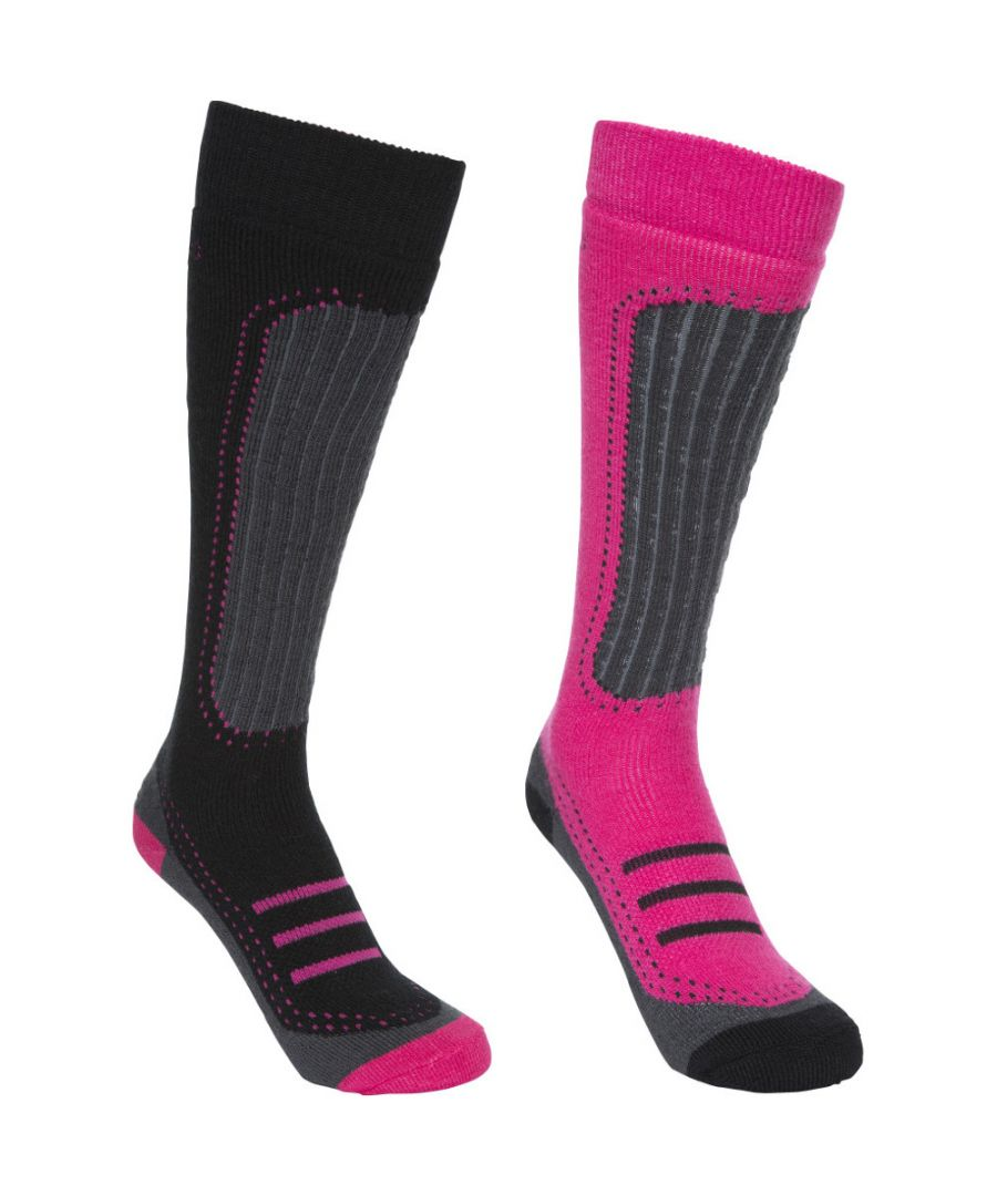 Image for Trespass Womens/Ladies Janus II Acrylic Two Pair Technical Ski Socks