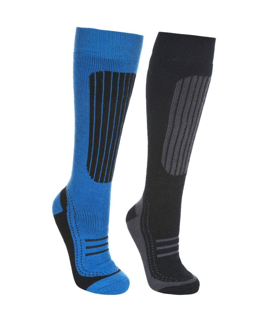 Image for Trespass Mens Langdon II Acrylic Two Pair Pack Technical Ski Socks