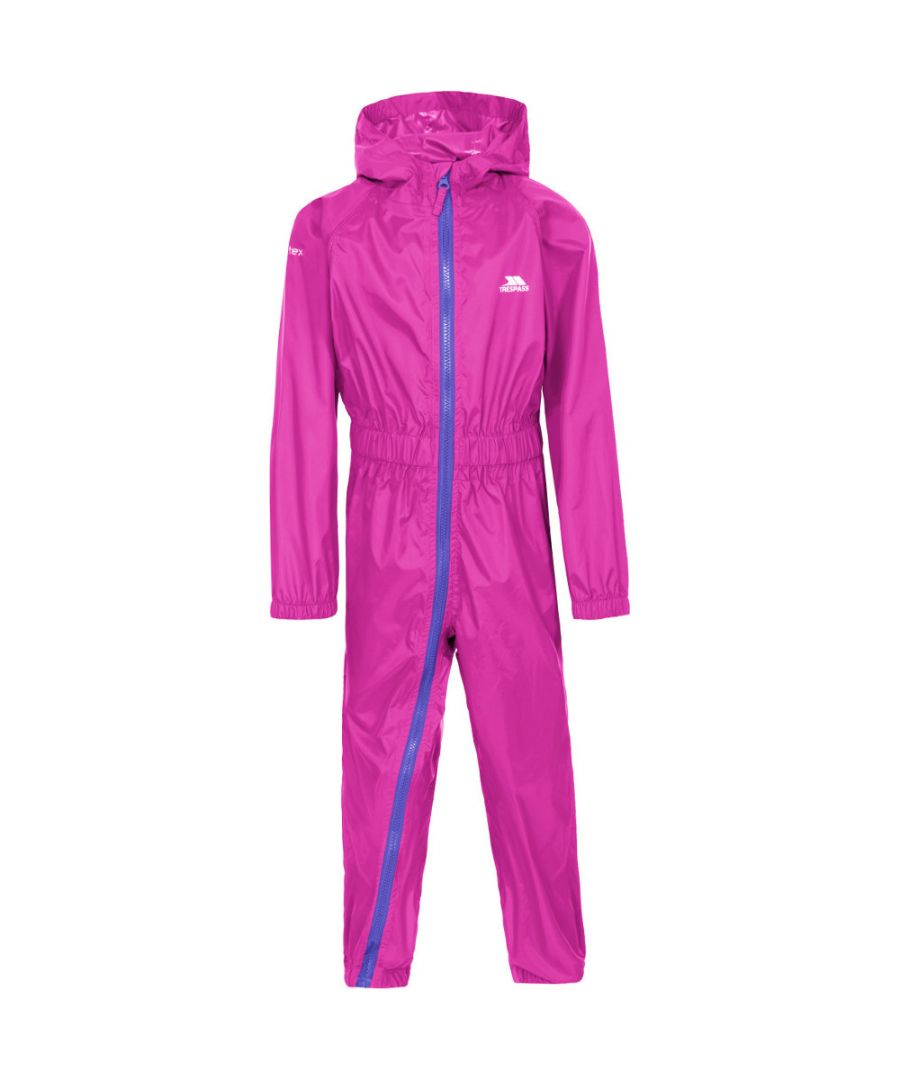 Image for Trespass Girls Babies Button II Waterproof Breathable Elasticated Rain Suit