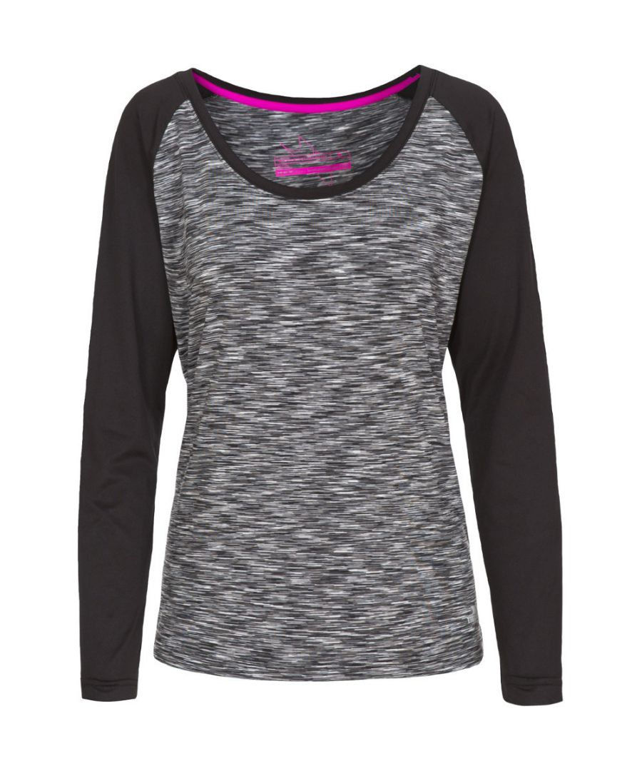Image for Trespass Womens/Ladies Miso Knitted Long Sleeved Quick Dry Active Top