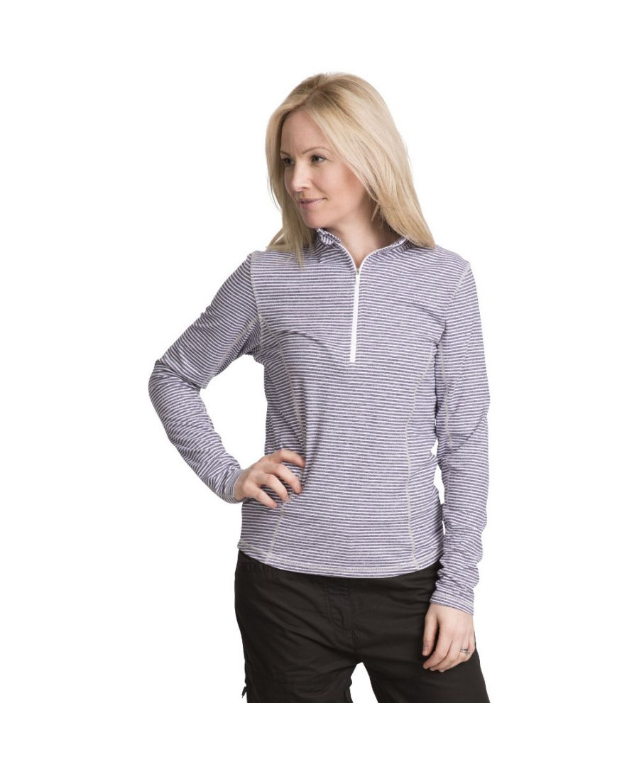 Image for Trespass Womens/Ladies Overjoy Half Zip Long Sleeved Wicking Top