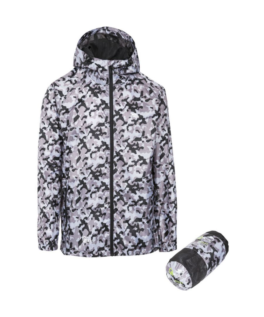 Image for Trespass Mens & Womens/Ladies Waterproof Qikpac Print Packaway Jacket