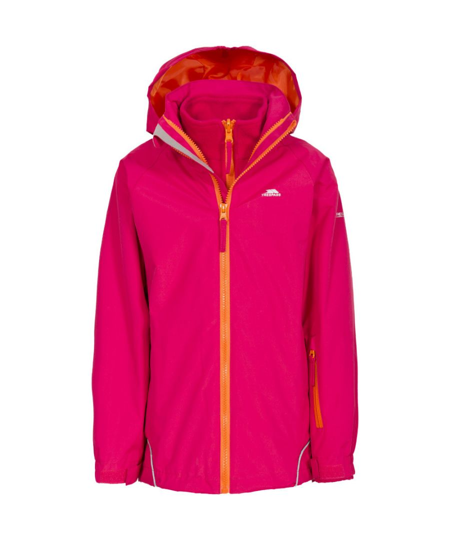 Image for Trespass Girls Rockcliff Waterproof Windproof Fleece 3 In 1 Jacket