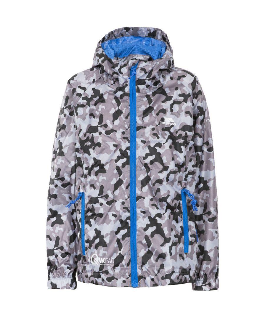 Image for Trespass Girls Qikpac Waterproof Breathable Packaway Print Jacket