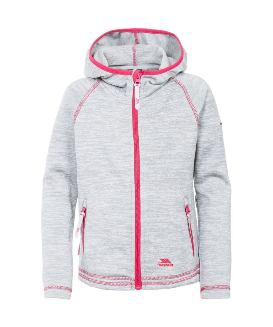 Image for Trespass Girls Goodness Polyester Full Zip Hooded Fleece Jacket