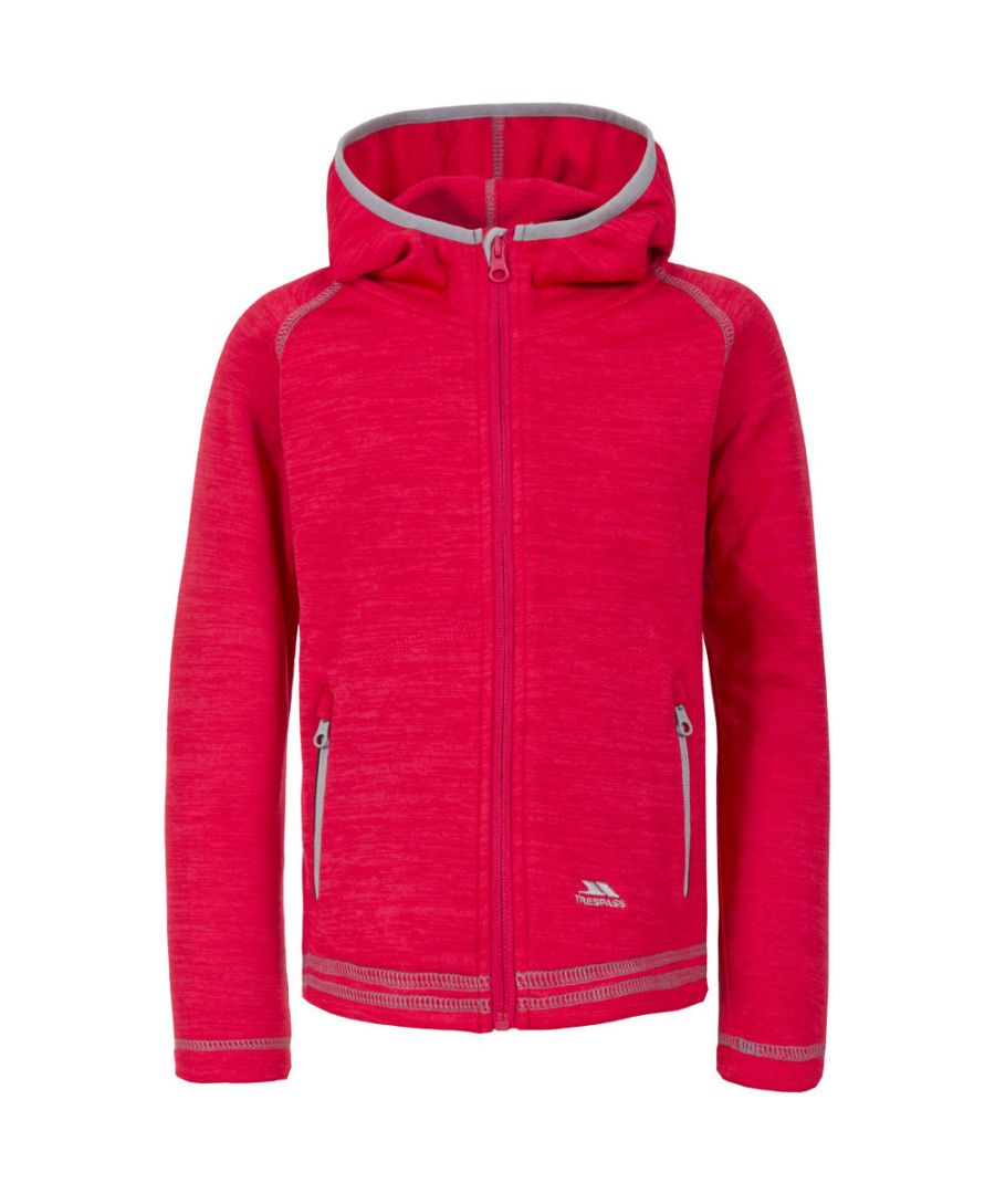 Image for Trespass Girls Goodness Polyester Full Zip Hooded Fleece Jacket Coat