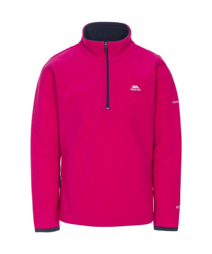 Image for Trespass Girls Sybil Knitted Polyester Half Zip Micro Fleece Jacket