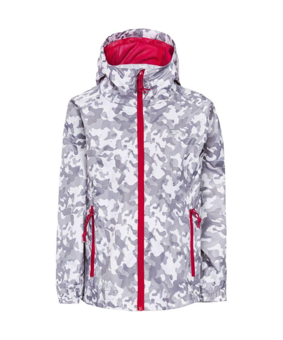 Image for Trespass Boys Qikpac Printed Packaway Waterproof Shell Jacket