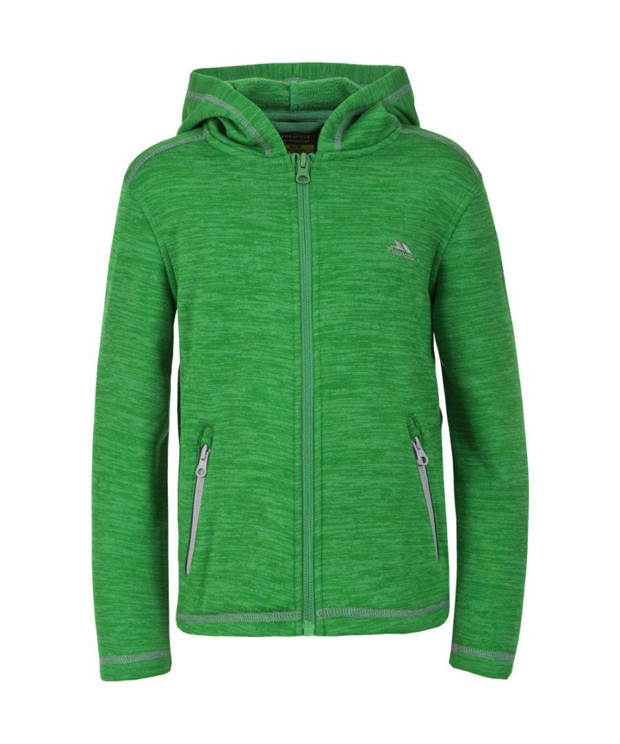 Image for Trespass Boys Shaw Knitted Polyester Full Zip Melange Fleece Jacket
