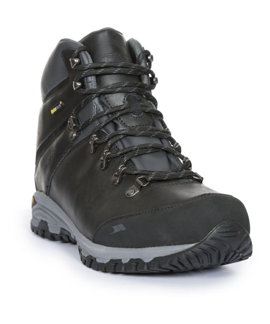 Image for Trespass Mens Cantero Mid Cut Leather Waterproof Hiking Walking Boots