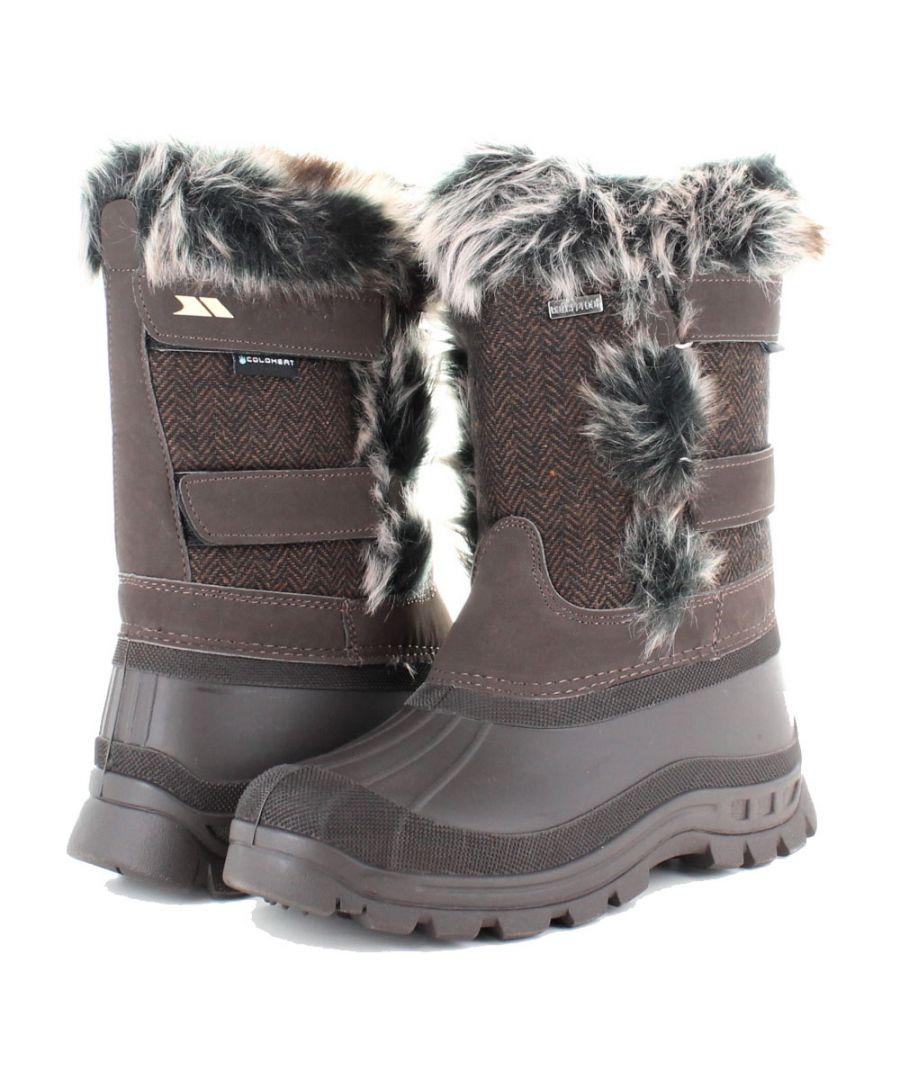 Image for Trespass Womens/Ladies Brace Waterproof Fleece Lined Winter Snow Boots