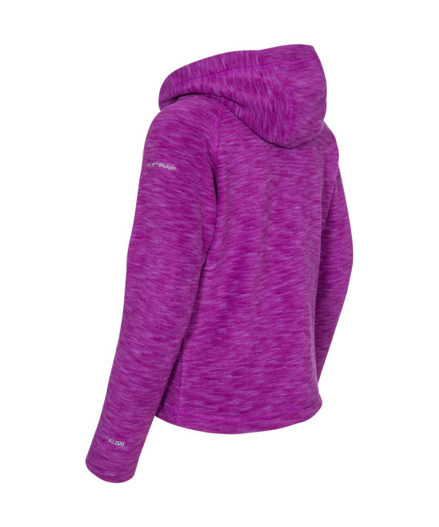 Image for Trespass Boys & Girls Moonflow Hooded Soft Knitted Marl Fleece Jacket
