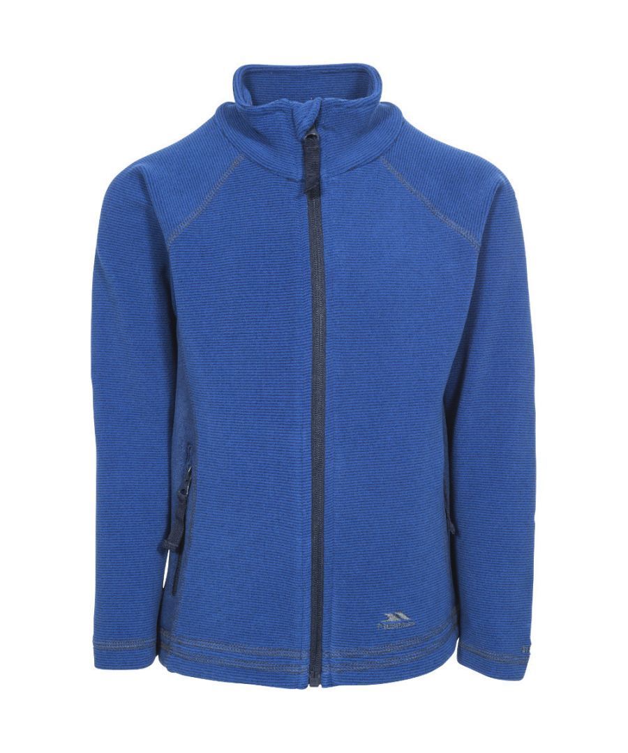 Image for Trespass Girls Bunker Full Zip Airtrap Warm Knitted Fleece Jacket Top