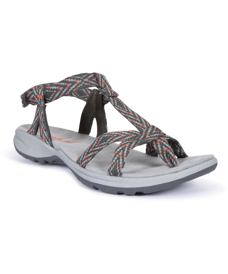 Image for Trespass Womens/Ladies Hueco Cushioned Webbing Ankle Strap Sandals