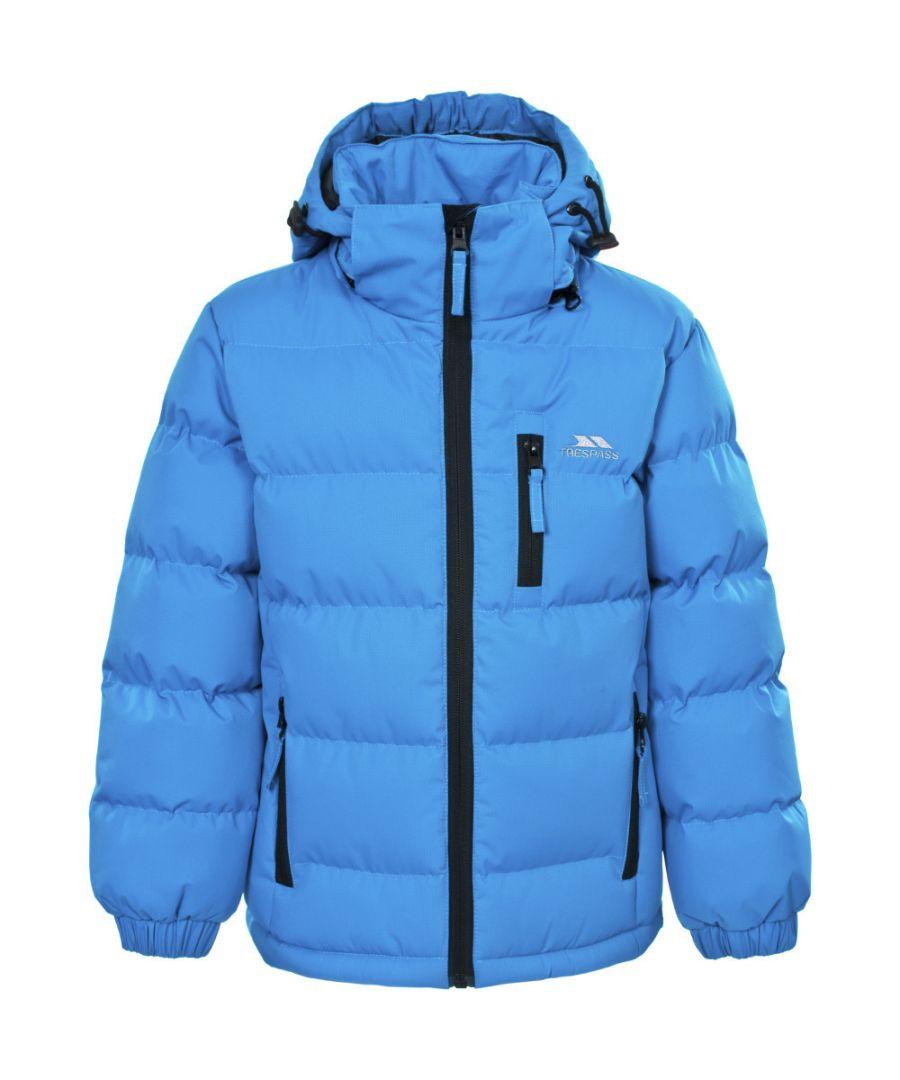 Image for Trespass Boys Tuff Warm Thick Padded Winter Jacket Black
