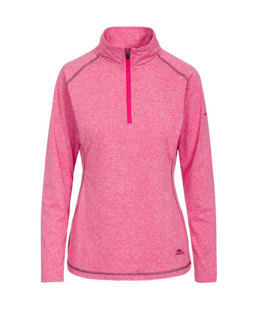 Image for Trespass Womens/Ladies Zirma Longsleeve Fitness Running Half Zip Tops