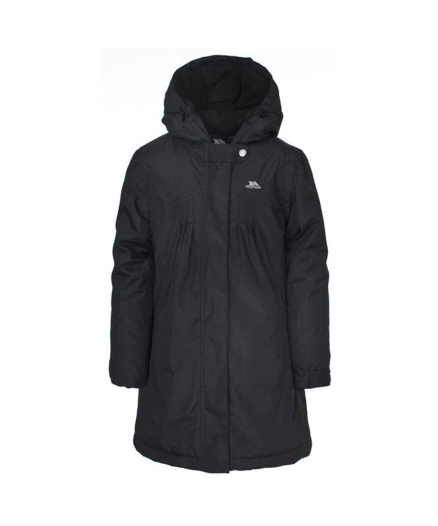 Image for Trespass Girls Vee Waterproof Padded Fleece Lined Jacket Black