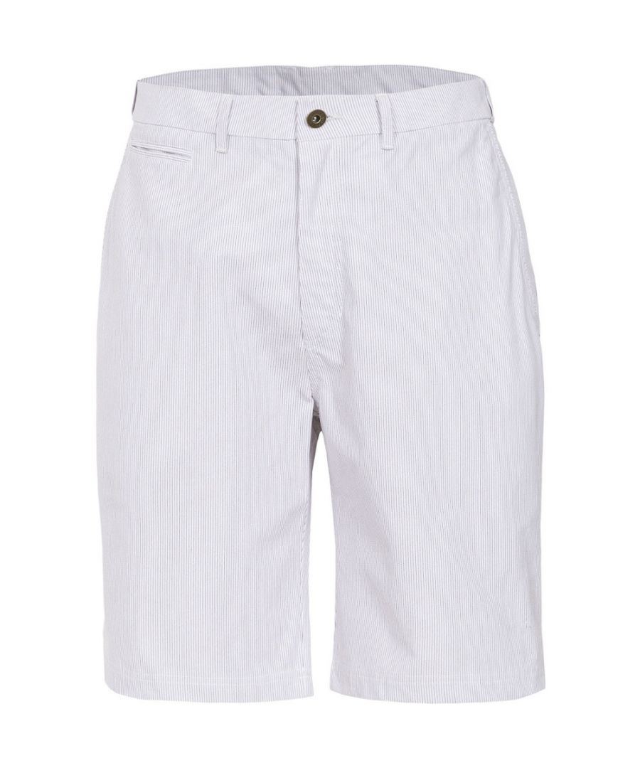 Image for Trespass Mens Atom Woven Cotton Longer Length Striped Casual Shorts